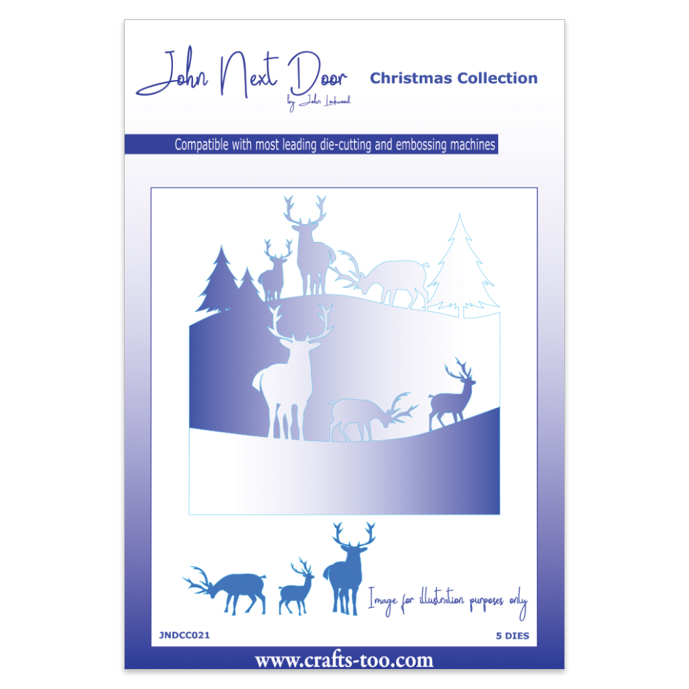 John Next Door Christmas Dies.John Next Door Christmas Dies Deer Scenes 5pcs